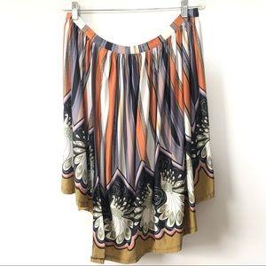 Topshop Skirts - TopShop Womens Skirt Size 10 Peacock Print Wrap